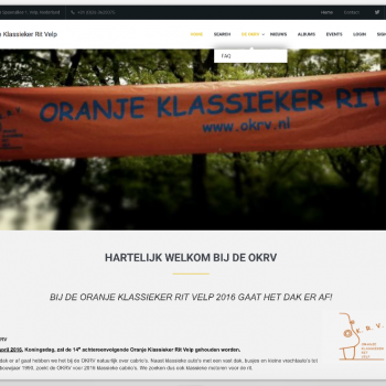 Website layout  OKRV onder Subrion